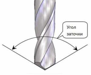 Какой угол заточки сверла по металлу