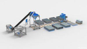Оборудование для производства газосиликатных блоков