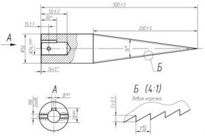 Как сделать конусный дровокол своими руками