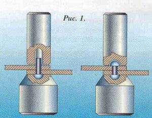 Как делать заклепки на металле