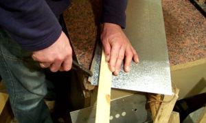 Как согнуть жестяной лист своими руками