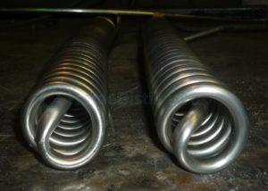 Намотка спирали из нержавеющей стали
