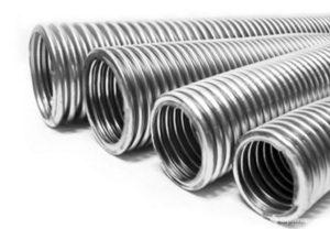 Металлическая гофрированная труба для водопровода