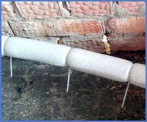 Утепление труб отопления на улице своими руками