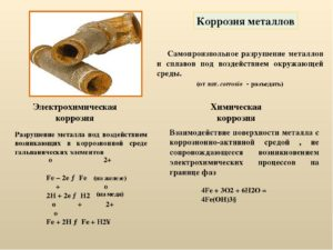 Что называется коррозией металлов