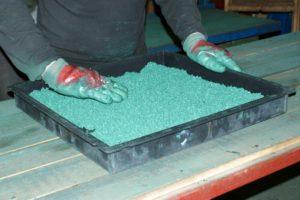 Технология производства плитки из резиновой крошки