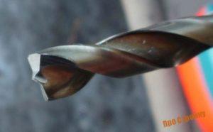 Заточка сверла для высверливания точечной сварки