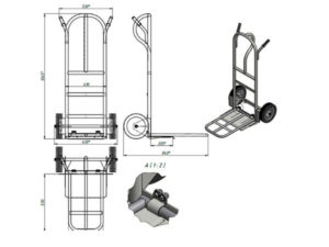 Тележка для перевозки грузов двухколесная своими руками