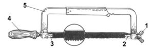 Как установить полотно в ножовку по металлу