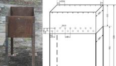 Как изготовить мангал размеры