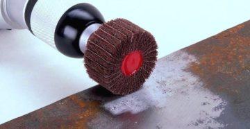 Насадки на дрель для шлифовки металла абразивные
