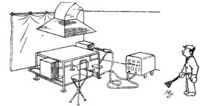 Рабочее место сварщика ручной электросварки