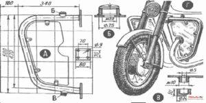 Как сделать дуги на мотоцикл своими руками