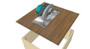 Изготовление стола для ручной циркулярной пилы