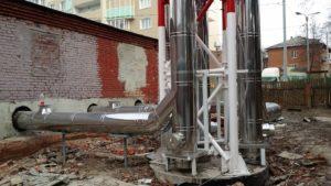 Дымовые трубы для котельных из нержавеющей стали