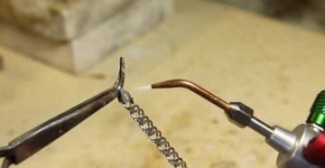 Пайка серебряной цепочки в домашних условиях