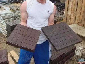 Полимерпесчаная плитка своими руками изготовление