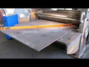 Правка листового металла на вальцах
