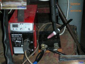 Как подключить аргоновую горелку к сварочному инвертору